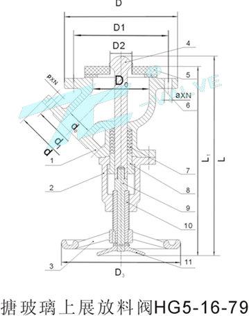 上展式搪玻璃放料阀|参数|结构|报价|新闻|上海首龙